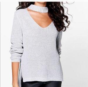 Boohoo Sweater Choker Style V-neck
